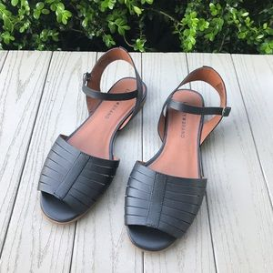 Lucky Brand Channing Black Leather Sandals